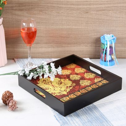 Annapakshi MDF Square Serving Tray