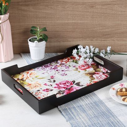 Floral MDF Large Serving Tray