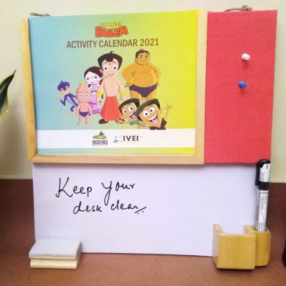Kids Decor Products Online | Chhota Bheem Kids Writing Board at Low Price