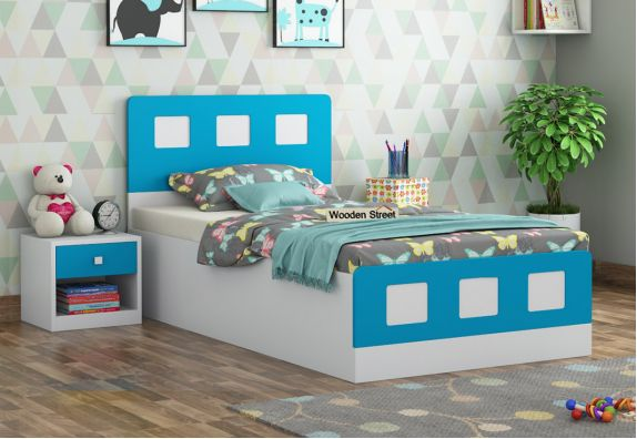 Blueberry Single Kids Bed With Storage Online India