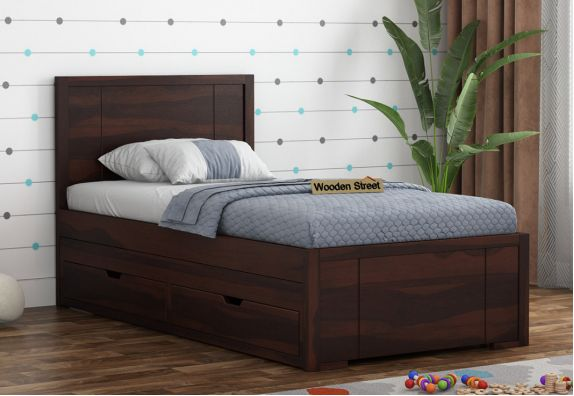 Wooden Kids Trundle Bed With Storage | Children Bed