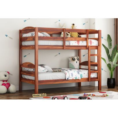 bunk bed with study table online in mumbai, bangalore | double decker bed for kids | kids bedroom furniture