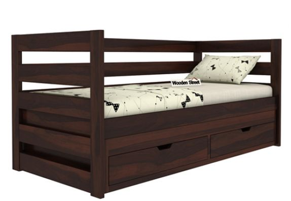 solid wood trundle bed online for kids