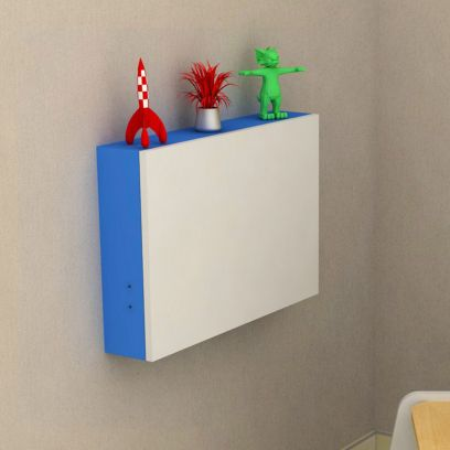 Blue Colour Wall Mounted Kids Study Table
