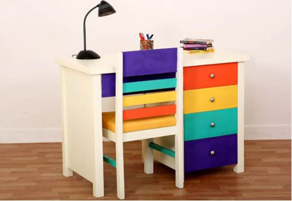 colorful kids study table design online - study table for kids