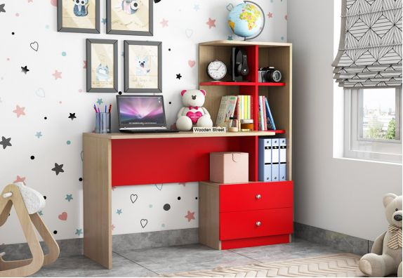 Candyland Kids Study Table (Cardinal Red)