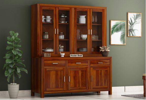 Bago Kitchen Cabinet (Honey Finish)