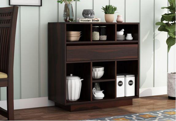 Beauford Kitchen Cabinet (Walnut Finish)