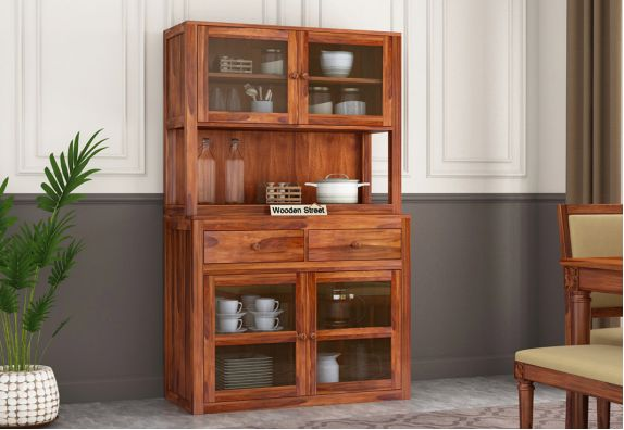 Crockery Unit Buy Wooden Crockery Cabinet Online Upto 55 Off Wooden Street