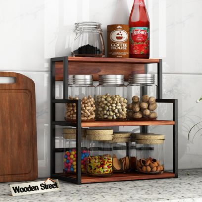Capper Kitchen Rack (Honey Finish)