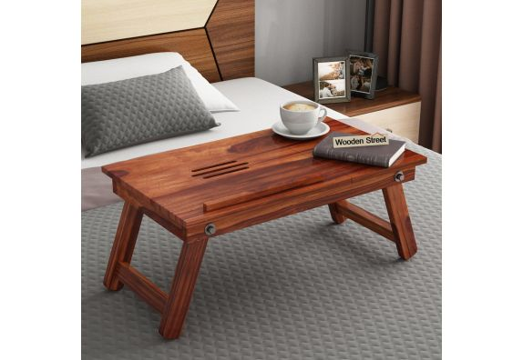 Solid wood laptop table for bed in Bangalore