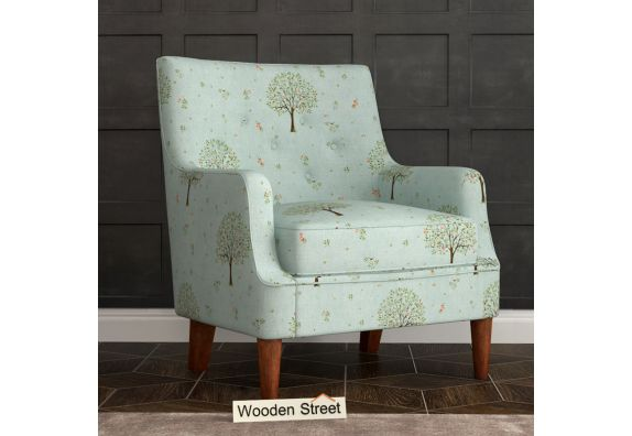 Adoree Arm Chair (Teal Pomme)