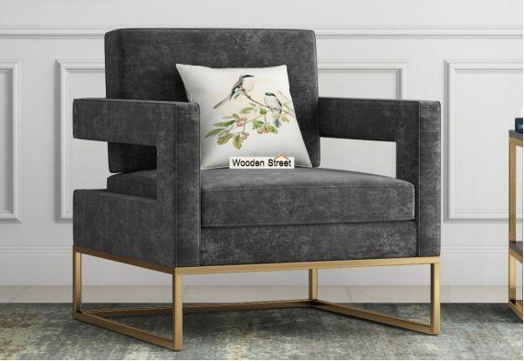 Cargo Lounge Chair (Velvet, Graphite Grey)