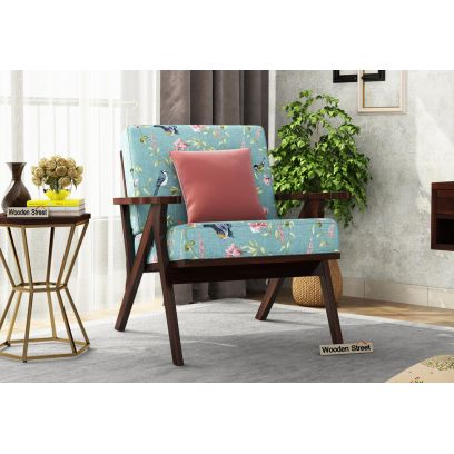 Crisper Lounge Chair (Linen, Bubble Robins)