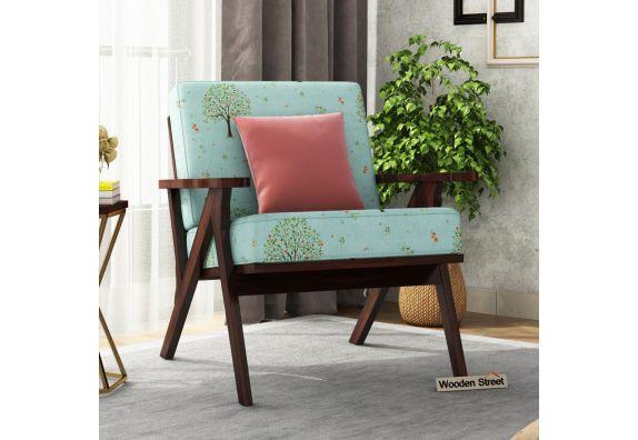 Crisper Arm Chair (Cotton, Teal Pomme)