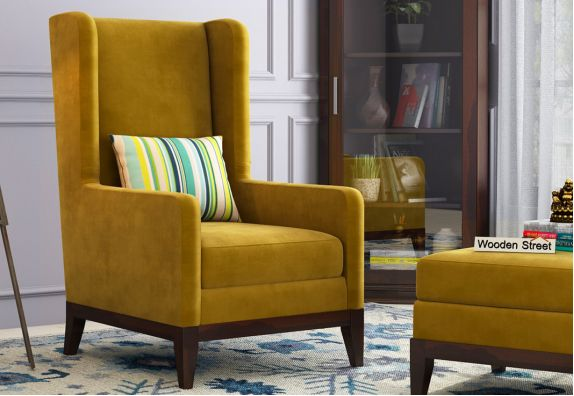 modern wing chair design (चेयर डिज़ाइन) online india, best furniture design India