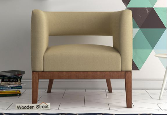 solid wood lounge chair