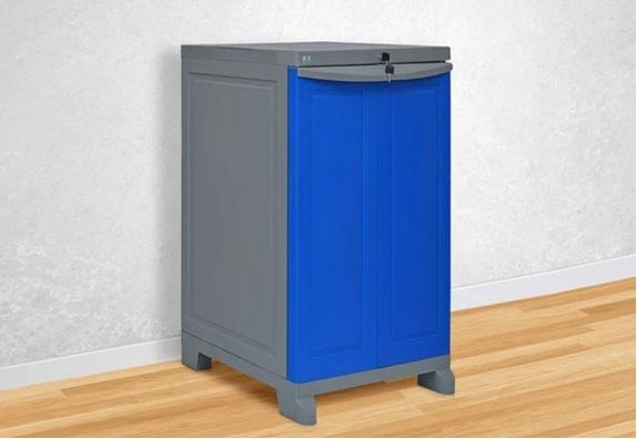 Deep Blue and Grey Small Plastic Shoe Rack