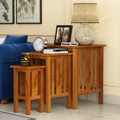 Wooden living room table sets online