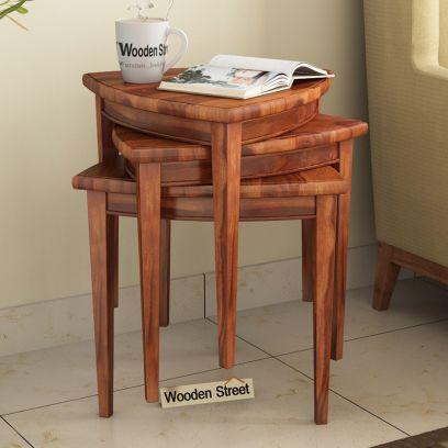 Solid Wood nesting table set in Mumbai India