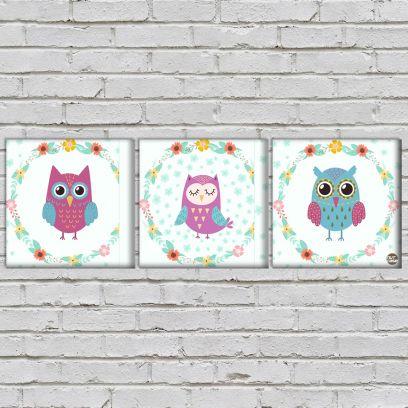 Cute Owl Wall Art for Kids Room & Bedroom Low Price