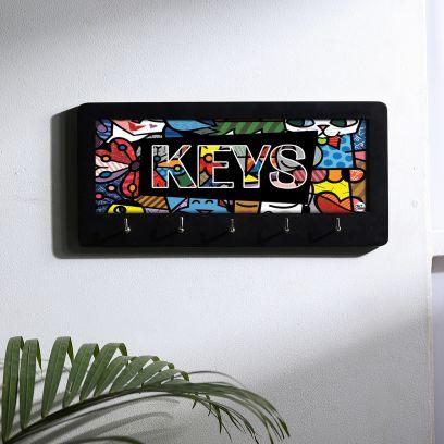 Multicolored Elegant Designer Wooden Key Holder