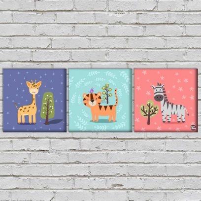 Trees and Animals Kids Wall Art Online for kids Room
