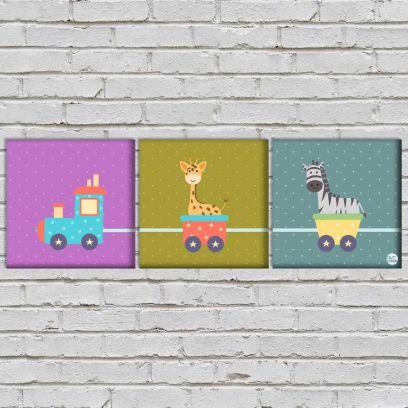 Zebra Ride Wall Art for Kids Room & Bedroom Low Price