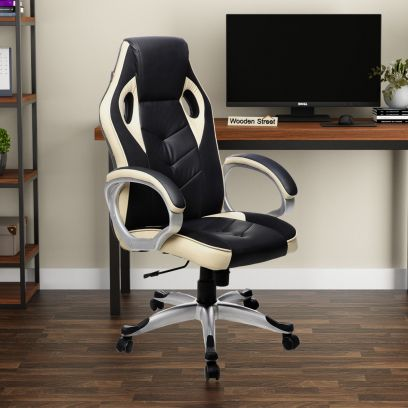Black and Cream Gaming Chair Online in India
