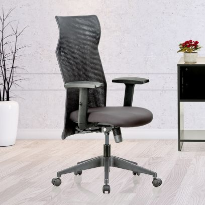 High Back Chair : Featherlite Contact High Back Mesh Chair