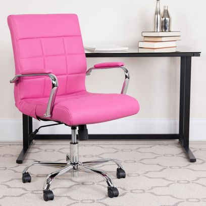 MB PU Leatherette Executive Task Chair (Pink)