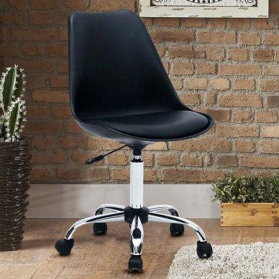 Stylish Modern Rotary Chair (Black)
