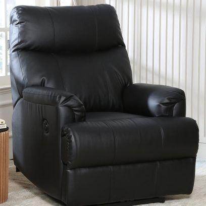 recliner chair: Carol 1 Seater Recliner (Black)