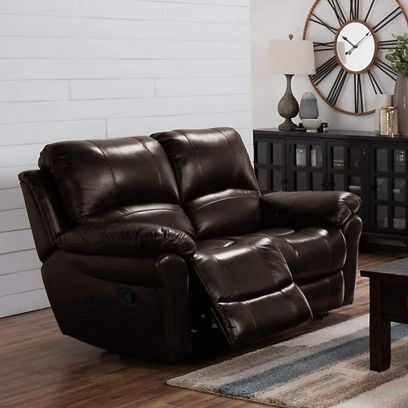 Cobster Leatherette 2 Seater Recliner Sofa (Brown)