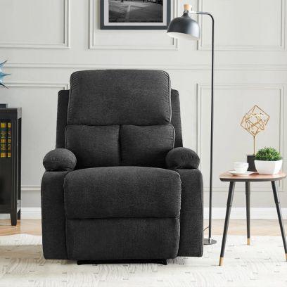 Elizza Fabric 1 Seater Recliner Sofa, Recliner Online