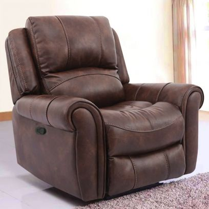 Maxx Leatherette 1 Seater Recliner Sofa (Brown)
