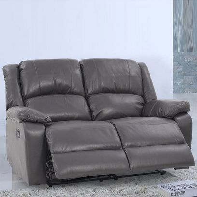 Starsan Leatherette 2 Seater Recliner Sofa (Grey)