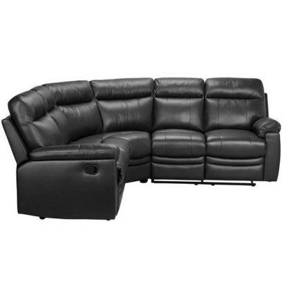 Black L Shape Leather Sofa Online