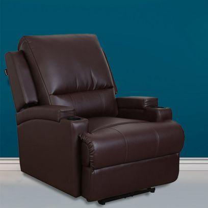 TV Chair 1 Seater Recliner Sofa (Brown)