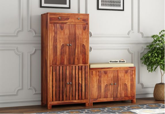 wooden shoe cabinet online at low price in Bangalore, India