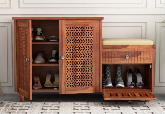 Hopkin Shoe Rack (Honey Finish)