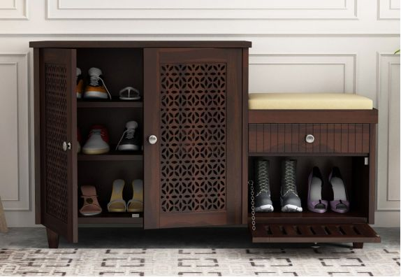 Hopkin Shoe Rack (Walnut Finish)