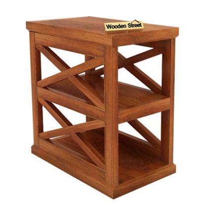 Scribble Chair Side End Table (Honey Finish)