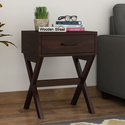 Buy Solid wood Side Table, end tables online in India
