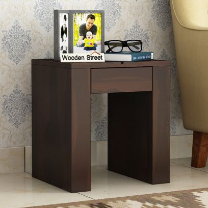 Vadis Chair Side Table (Walnut Finish)