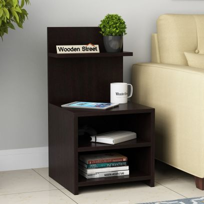 Cairo Side End Table (Flowery Wenge Finish)