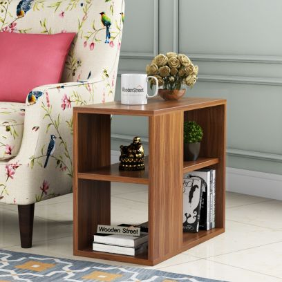 Snappy Side End Table (Exotic Teak Finish)