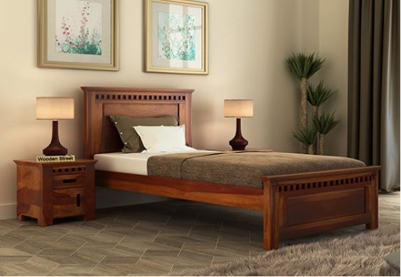 buy simple single beds online for small bedroom