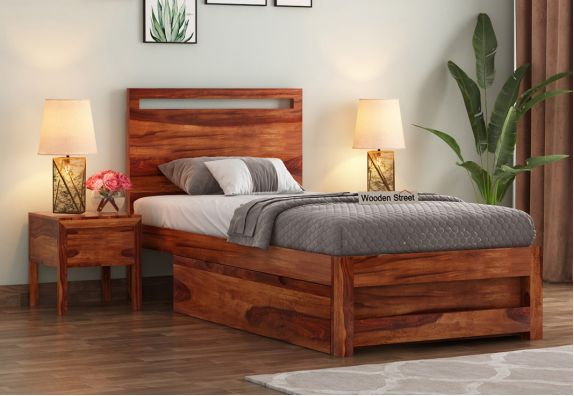 Single Bed furniture online from WoodenStreet