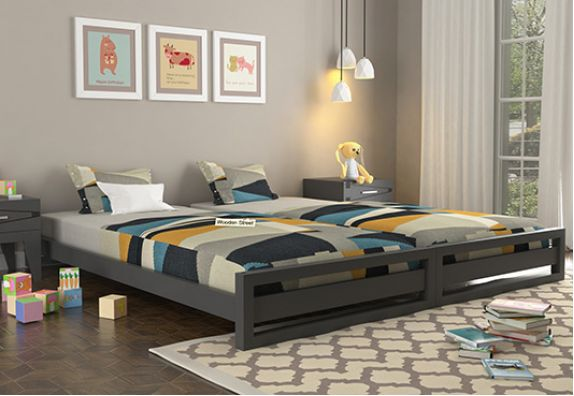 single beds for kids | kids double bed | mango wood kids bed in Bangalore